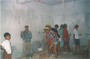 Pintando la casa de concejo