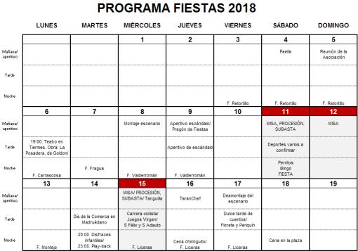 Fiestas 2018 v2